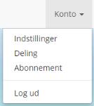 Deling, under Konto