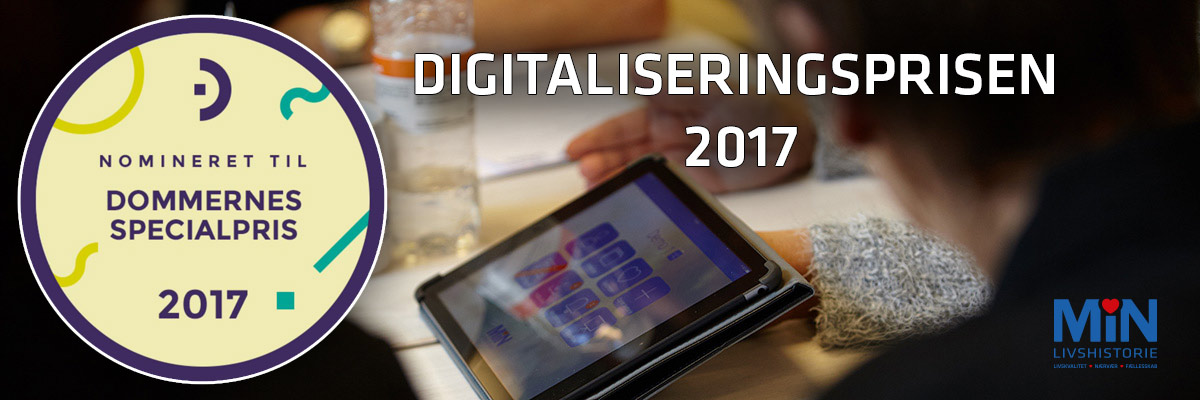 Nomineret til Dommerens Specialpris ved Digitaliseringsprisen 2017